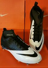 New ~Mens Nike Lunar Superbad Pro D Football Cleats White BLACK 511328 001 SIZES