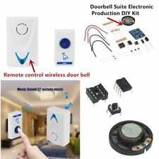 LED Wireless Chime Wireles & Door Bell Remote control 32 Tune Songs SD