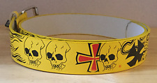 Punk Emo Yellow Skulls Fashion Belt