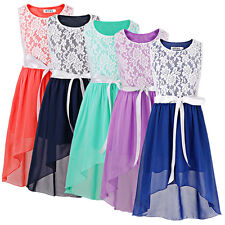 Flower Girls Princess Dress Party Wedding Pageant Bridesmaid Dresses Clothes