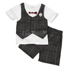 Newborn Baby Boys Kids Toddler Clothes T-shirt Tops+Shorts Pants Outfits Sets