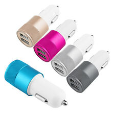 Car Charger Adaptor Bullet Dual Mini USB 2-Port for Apple iPhone 7 S 6 Samsung I