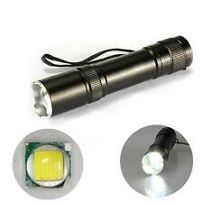 12W CREE Q5 1200 Lm LED Zoomable Flashlight Torch Lamp Light 18650 + Charger SL
