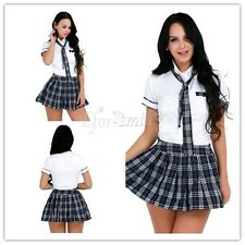 Japanese School Girl's Dress Uniform Cosplay Costume Clothes Skirt Tie Outfits