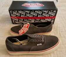NEW IN BOX MEN'S 7 7.5 VANS FOR J CREW AUTHENTIC WASHED CANVAS BLACK SKATE SHOES