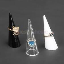 MagiDeal 5Pcs Plastic Finger Cone Ring Stand Jewelry Display Holder Organizers