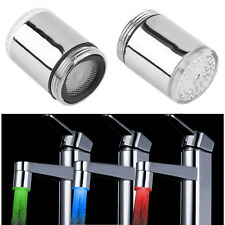 Temperature Sensor 3 Color Kitchen Water Tap Faucet RGB Glow Shower LED Light#!