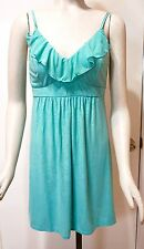 NWT $59 Chico's Soma Scroll Burnout Print Sleep Chemise, Decoratif Border Teal