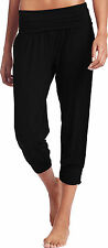 Ladies Ex- M&S Marks and Spencer Black Harem Yoga Pants Bottoms Trousers Cropped