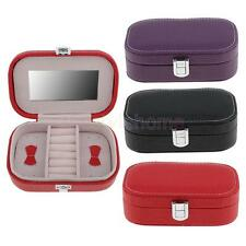 MagiDeal Portable Travel Earring Ring Jewelry Box Jewellery Case Storage Gifts