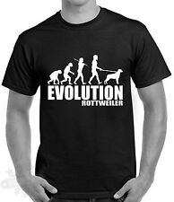 Slogan,humour,evolution men,rottweiler dog breed dog,t shirt,s-3xl