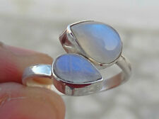 RAINBOW MOON STONE RING SOLID 925 STERLING SILVER HANDMADE RING SIZE 4,5,6,7,8,9