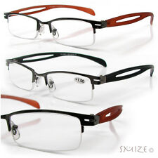 Reading Glasses Semi Rimless Sophisticated Readers 175-300