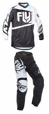 FLY RACING F-16 PANT JERSEY GEAR SET COMBO F16 BLACK/WHITE MENS SIZE