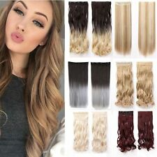US Real Elegant Women One Piece Clip In Hair Extensions As Remy Human Style TR4