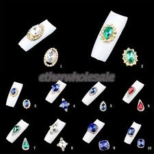 3D Glitter Diamond Nail Art Charms Manicure Bling Rhinestones DIY Decoration