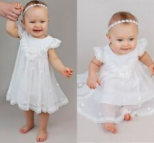 New Baby Baptism Outfits Dresses Lace Short Christening Gowns Tulle 0-24 Months