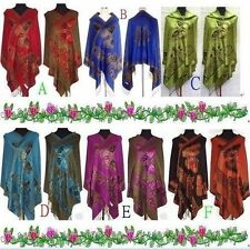 Fashion-New-Chinese-Lady-Double-Side-Butterfly-Pashmina-Scarf-Wrap-Shawl-Cape**