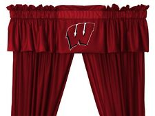 University of Wisconsin Badgers Window Treatments Valance and Drapes