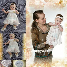 2017 Baby Mini Baptism Dresses White Ivory Christening Gown/Outfit Custom 0-24 M