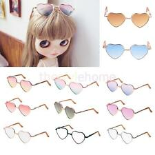 MagiDeal Gradient Colored 1/6 Heart Shaped Doll Glasses For 12'' Blythe Doll NEW