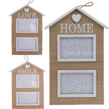 MagiDeal Love Home Smile House Wooden Family Photo Frame Hanging Picture Holder