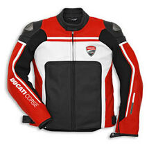 NEW DUCATI APPAREL  CORSE C2 PERFORATED LEATHER JACKET RED/WHITE