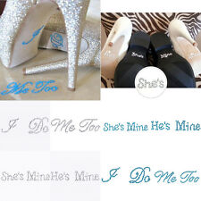 I Do Wedding Shoes Crystal Decal Rhinestone Stickers for Wedding Accessories