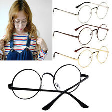 Fashion Unisex Round Metal Clear lens Vintage Retro Geek Aviator Glasses Frame