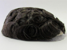 Men's Hairpiece Toupee Coffee / Dark Brown + Some Gray 100% Human Hair RARE 320