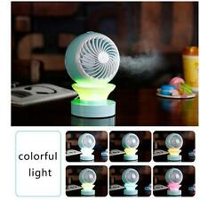 LED Mini Fans Table USB Rechargeable Fan Humidifier Air Conditioner Air Coo S6