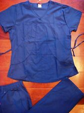 Denice NY 945 New Fashion Scrubs Set Top and Pant Nurses Uniform Color Navy Blue