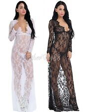 Women Sexy Lingerie Lace Dress G-string Babydoll Sleepwear Underwear Nightgown