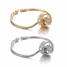 Love Bangle Jewelry Crystal Cuff Bracelet Fashion Women Wedding Gift Gold Plated