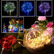 20/40 LED BATTERY OPERATED MICRO SILVER WIRE STRING FAIRY LIGHT LAMP DECORATION