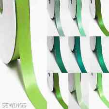 """double faced satin ribbon 2.5"""" /  63mm. wedding 5 yards, lime to green"""