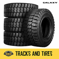 12-16.5 (12x16.5) Galaxy Trac Star 12-Ply Skid Steer Tires: Pick Your Rim Color
