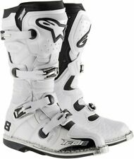 Alpinestars Tech 8 RS White Vented Boots Adult Sizes Dirt Motocross Off-Road