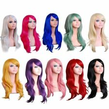 Women Lady 70cm Full Curly Wigs Cosplay Costume Anime Party Hair Wavy Long AY