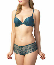 Passionata Glamourous 5412 Orient Green Push Up Plunge Bra - size 32C