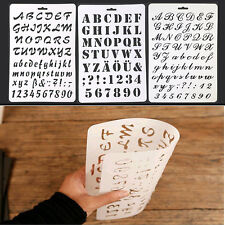 Lettering Number Stencils Letter Alphabet Stencils Painting Paper Craft 3 Type