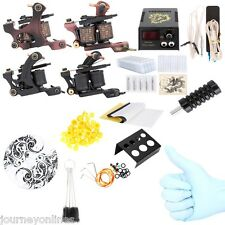 Complete Tattoo Kit Power Supply 2 Machine Guns Shader Liner Black