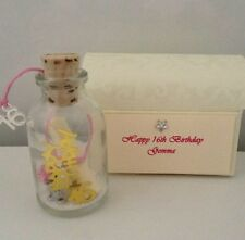 PERSONALISED 16TH BIRTHDAY KEY MESSAGE IN A BOTTLE 16 GIFT CARD KEEPSAKE POEM