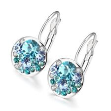 2016 New Fashion Round Charming Stud Earrings  with Czech Crystal Women Earrings