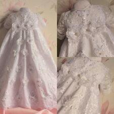 New Infant Baby Girls Christening Baptism Formal Gowns Outfits (New Born -24M)