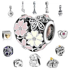 New Hot Sale 925 Silver European Charms Beads Rings Fit Bracelet pendant Chain