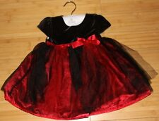 FAO Schwarz Black/Red Velour & Tulle Holiday Party Christmas Dress 2T 4T New
