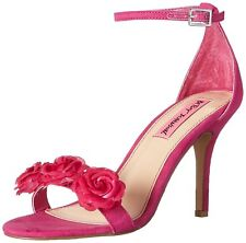 Betsey Johnson Womens Bromme Fabric Open Toe Casual Ankle Strap Sandals