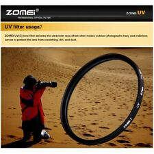 ZOMEI 40.5/49/52/55/58/62/67/72/77/82/86mm Ultra-Violet UV Filter Lens Protector