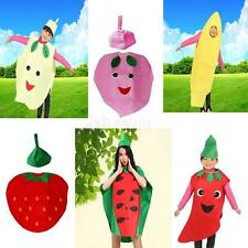 Adult Kids Fruit Food costumes Suits outfits for Fancy Dress Party Unisex